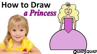 How to Draw a Princess - Easy Drawing for Kids