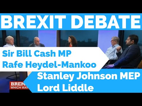 BREXIT DEBATE: Stanley Johnson, Sir Bill Cash MP, Lord Liddle and Rafe Heydel-Mankoo 23 June 2016