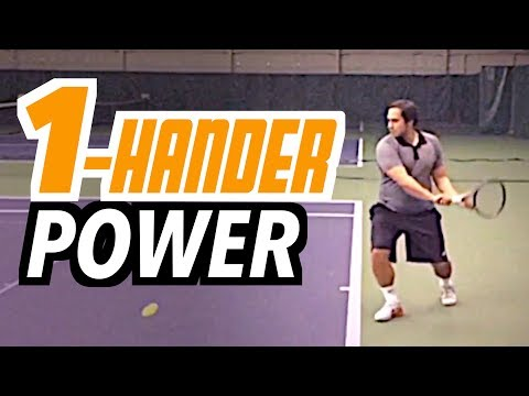 One-Hander POWER & POSITION - backhand tennis lesson