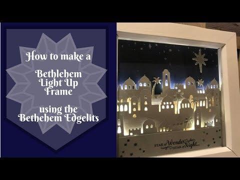 Bethlehem Light Up Shadow Box