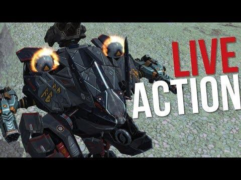 War Robots - Fenrir Best Builds Gameplay Using Max Pilot Skills   Live Action