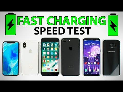 Thumbnail: iPhone X vs Galaxy S8+ vs iPhone 8 Plus vs iPhone 7 Plus - FAST CHARGING SPEED TEST!
