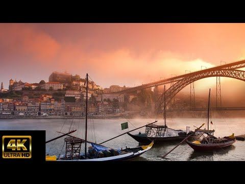 Flying Around Portugal (4K UHD) With Relaxing Music