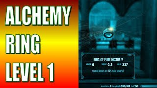 Skyrim Gameplay - How to Get an Alchemy Ring at LEVEL ONE! - Legendary Difficulty (No Cheats)