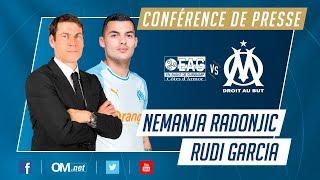 Guingamp - OM l  La conférence de Nemanja Radonjić 🇷🇸 et Rudi Garcia