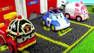 Coches para niños - Coche de policia - Camiones infantiles - Camión de bomberos - Robocar Poli