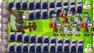 Gargantuar vs Wall Nut Max Plants vs Zombies 2 Challenge and 0 Sun Mod