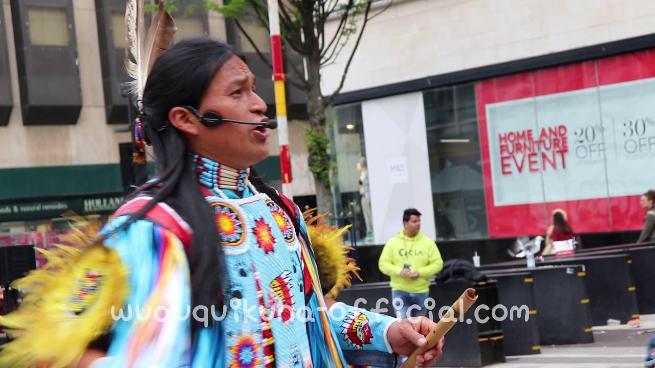 LIVE - AWESOME Street Performers Musicians - Sanjuanito - POLAQUITA - Quena - Zampońa - LIVE