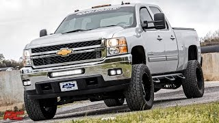 2011-2014 Chevrolet Silverado 2500HD And 3500HD Dual LED Fog Light Kit By Rough Country