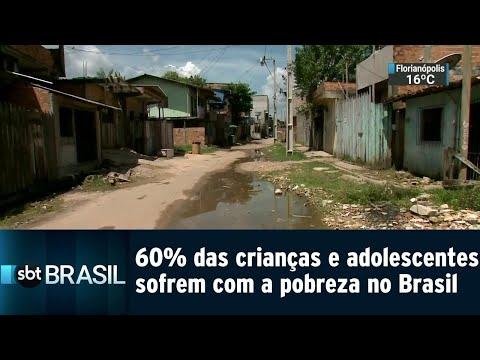 No Brasil, 60% das crianças e adolescentes sofrem com a pobreza | SBT Brasil (14/08/18)