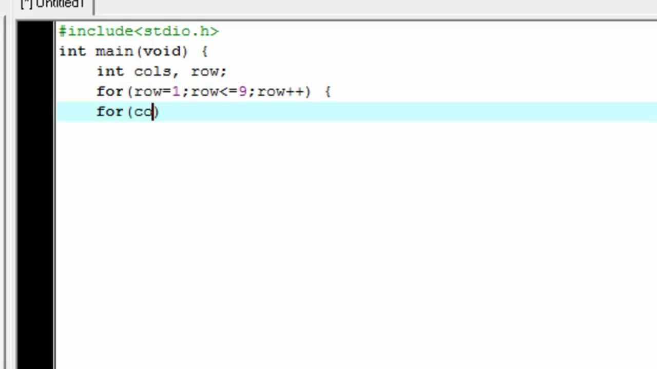Multiplication table in java using for loop choice image multiplication table program in c language using for loop for loop multiplication table c programming you gamestrikefo Images