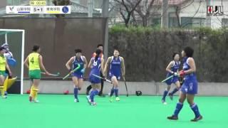 【女子】ボールが来る前にGKの位置を確認!山梨学院CROWNING GLORIESのFW18田中 花歩の強烈なシュートがゴール左上に突き刺さった!