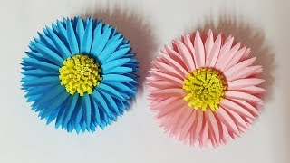 Beautiful Paper Flower Making Instruction   Paper Crafts   DIY Home Decor Ideas