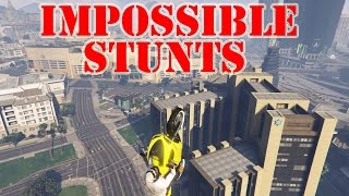 AMAZING IMPOSSIBLE BIKE STUNTS GTA 5 HIT A STUNT WITH MODS
