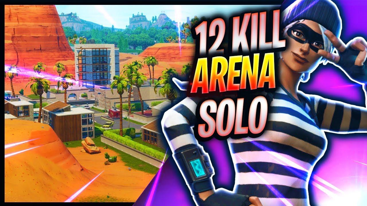 12 Kill Solo Arena Win | Fortnite