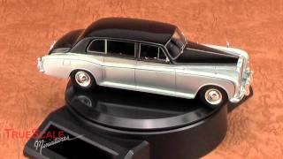 TrueScale Miniatures- TSM114315 Rolls Royce Phantom VI Mulliner Park Ward 1920 - Black Over Silver