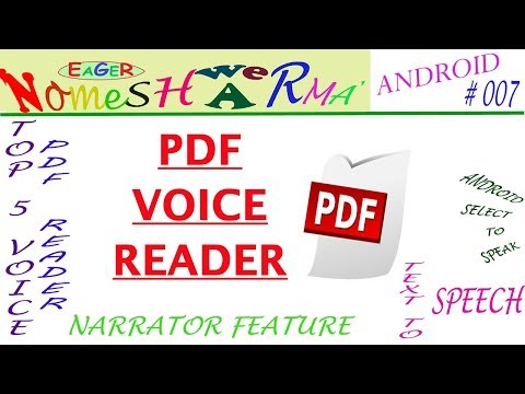 Pdf Voice Reader Free & Offline // ANDROID # 007