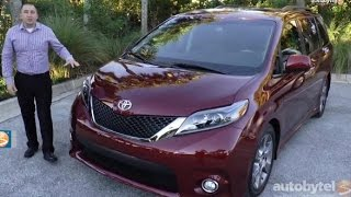 2015 Toyota Sienna Minivan Walkaround Video Review - Lots of Great Features