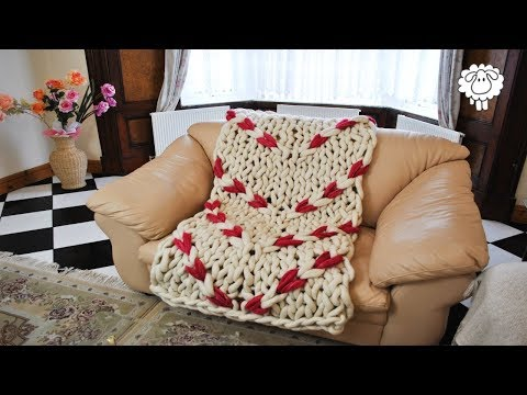Cable Blanket Hand Knitting