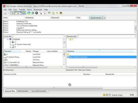Downloading, setting up, and using FileZilla to access your encrypted files