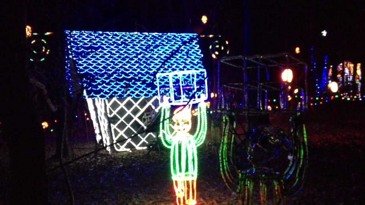 holiday lights at garvan woodland gardens in hot springs ar - Garvan Gardens Christmas Lights