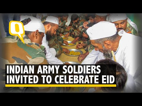 #GoodNews: Locals in Belagavi Invite Indian Army to Celebrate Eid | The Quint