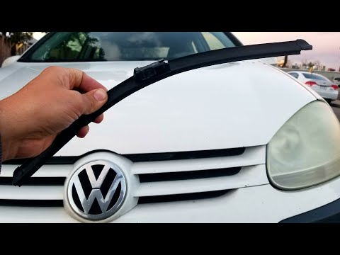 How to replace windshield wiper blades on a Volkswagen Rabbit GTI Jetta Passat 06 07 08 09 10 VW