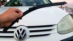 How to replace windshield wiper blades on a Volkswagen Rabbit GTI Jetta Passat 06 07 08 09 10 VW