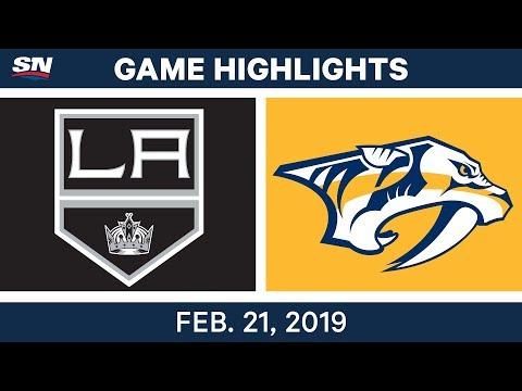 NHL Highlights | Kings vs. Predators - Feb 21, 2019