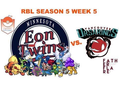 "RBL S5 W5 - Minnesota Eon Twins (2-2) vs. Vancouver Ursarings (4-0) - ""Fast and Loose"""""