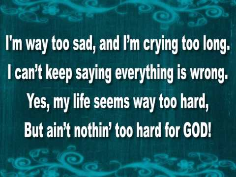 A LITTLE MORE JESUS LYRICS BY ERICA CAMPBELL