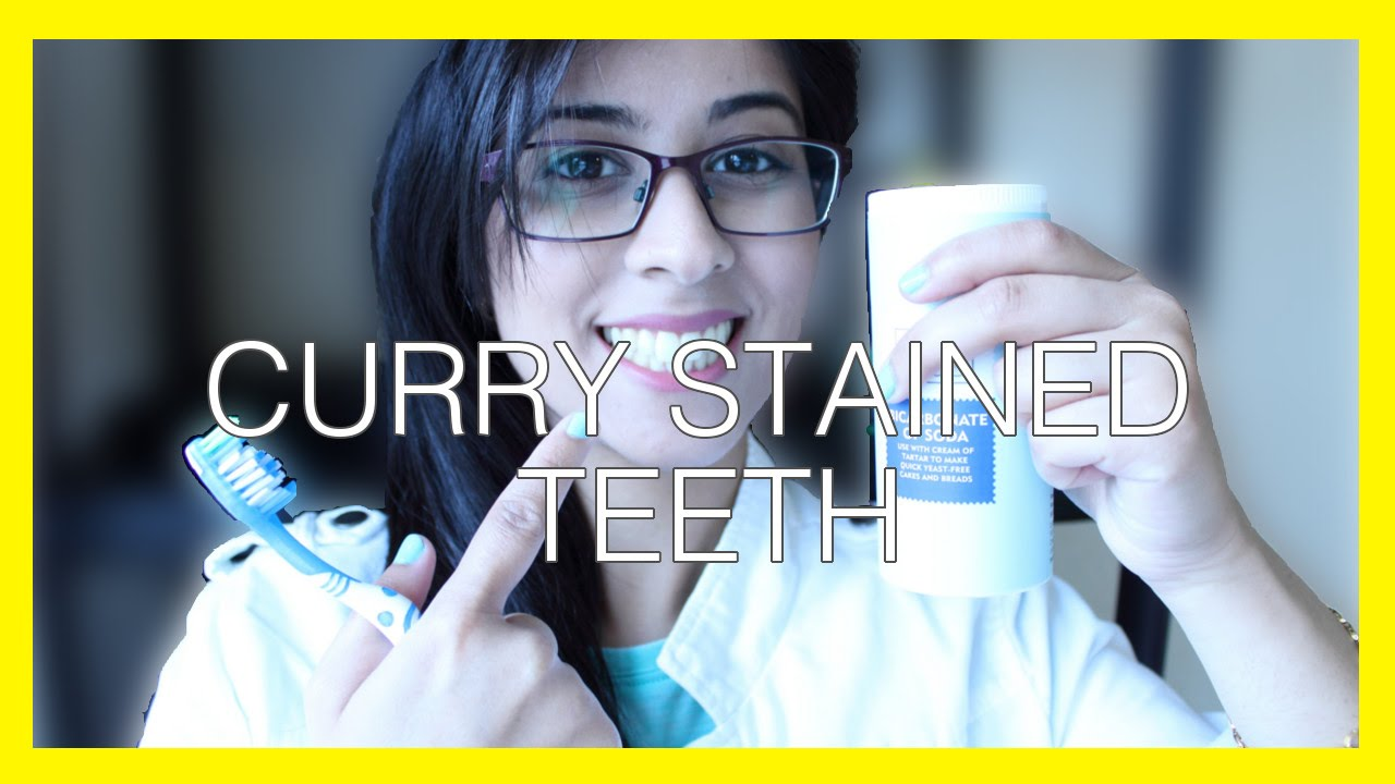 Curry Stained Teeth Before After Youtube