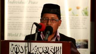 Mr  Ibraheem Member of AMJ Mexico speaking at Jalsa Salana Belize 2017