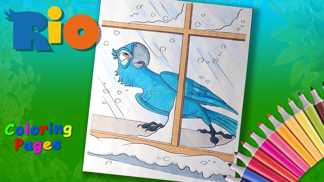Top 15 Rio Movie Coloring Pages For Your Little Ones | 720x1280