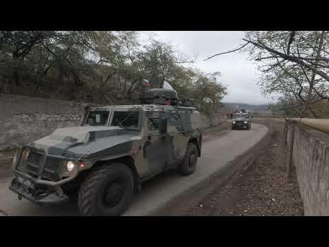 Сопровождение автоколонны ВС Азербайджана в Нагорном Карабахе