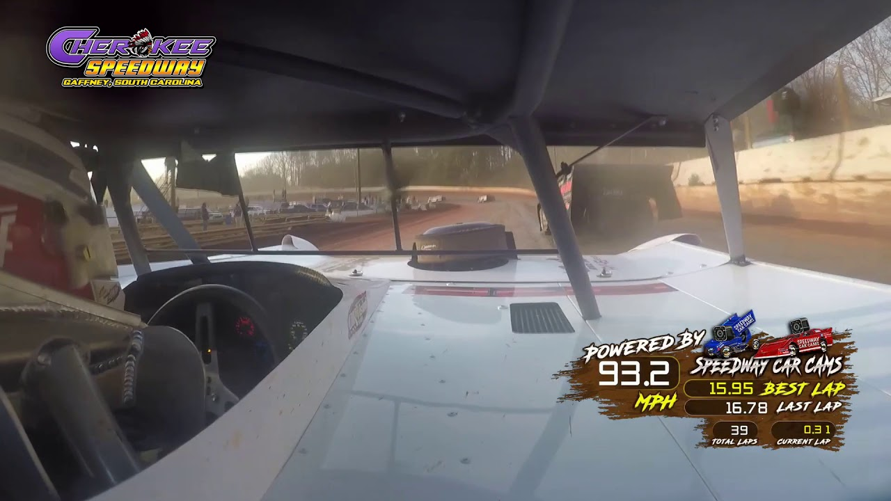 #0M Chris Madden - Super Late Model - Feature - 1-26-20 Cherokee Speedway - In-Car Camera