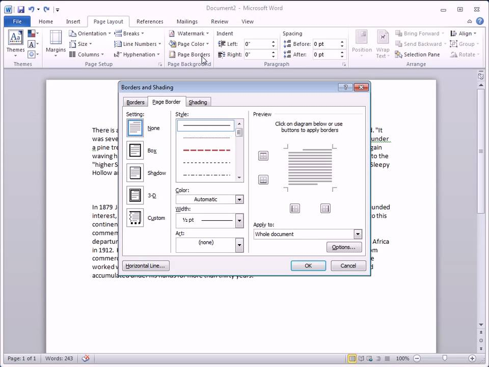 Adding Horizontal Lines In Word 2010 - Youtube