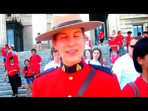 Canada's RCMP at Canada Day/Canadian Flag at Manitoba Legislature