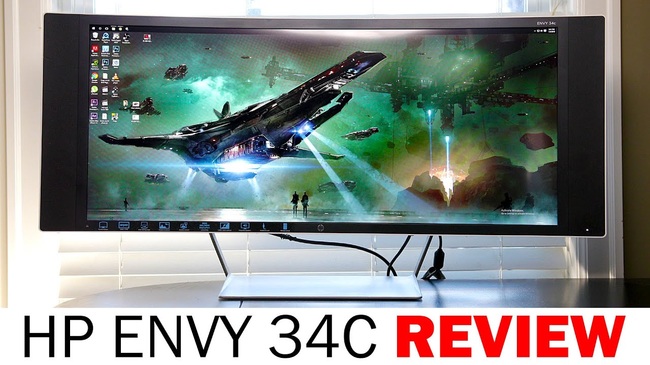 hp envy 34c curved 3440x1440 monitor full review youtube. Black Bedroom Furniture Sets. Home Design Ideas