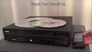 Review: Pioneer Laserdisc Player and Retro Sharp LCD TV