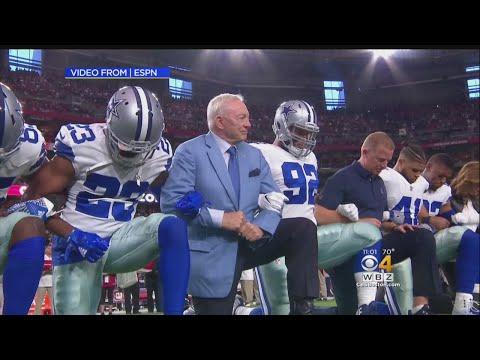 Cowboys Kneel Before National Anthem On Monday Night Football