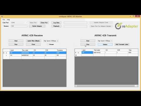 ReAdapter ARINC 429 Analyzer Tutorial