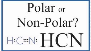 Is Hcn Polar Or Non Polar Youtube