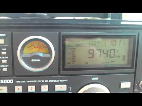9740 khz BBC Radio , British Broadcasting Company via Kranji , Singapore