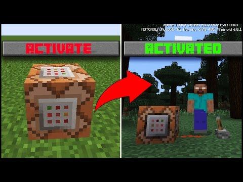 Use Command Block To Summon Herobrine In Minecraft Pocket Edition   Minecraft Pe ( Mcpe ) Herobrine