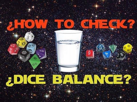 How To Check The Dice Balance D20 D12 D10 D8 D6 D4 Youtube