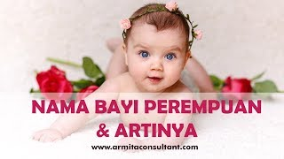 Gambar cover Nama Bayi Perempuan dan Artinya Awalan A - Z