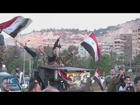 Syrians express defiance after US led strike on Syria
