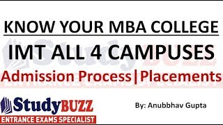 Know your MBA College | IMT (All 4 campuses) - Eligibility, admission process, placements, cut offs