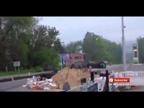 Ukrainian Mi 17 Helicopter Under Heavy Fire in Slaviansk